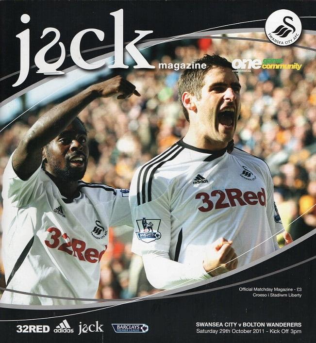 Swansea City v Bolton Wanderers Match Programme 2011