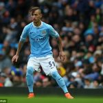 Bersant Celina during his Manchester City days