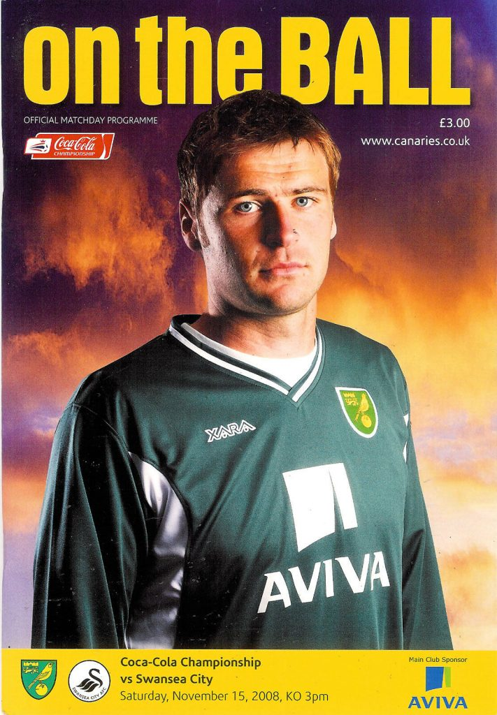 Norwich City v Swansea City November 2008