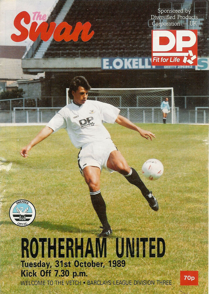 Swans v Rotherham programme 1989