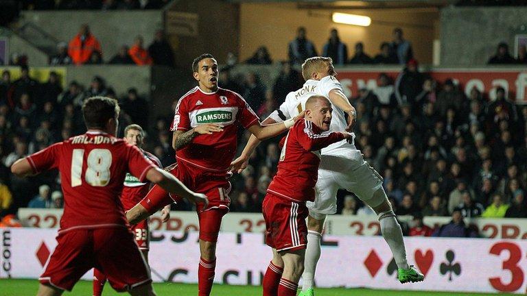 Swansea v Middlesbrough - Seb Hines own goal