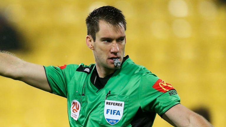 Referee Jarred Gillett