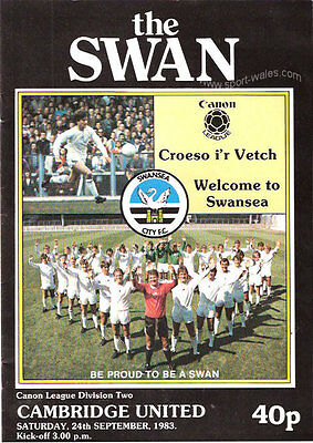 Swansea City v Cambridge Utd - 24 September 1983