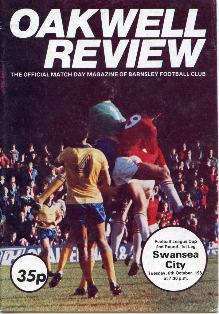 Barnsley v Swansea programme cover 1981-1982