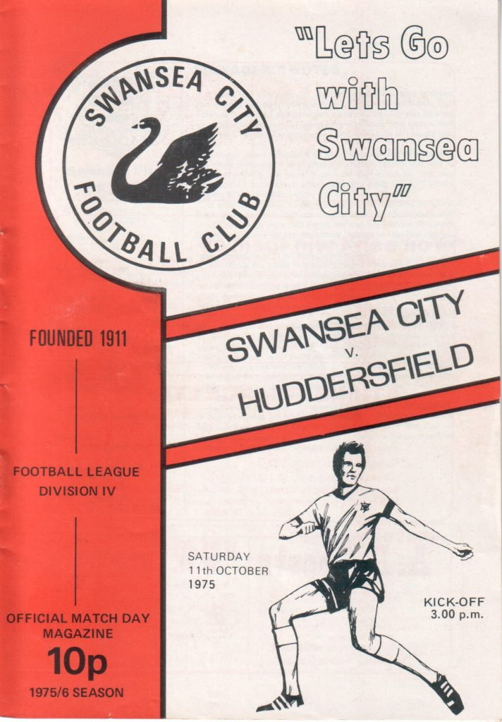Swans v Terriers Programme 1975