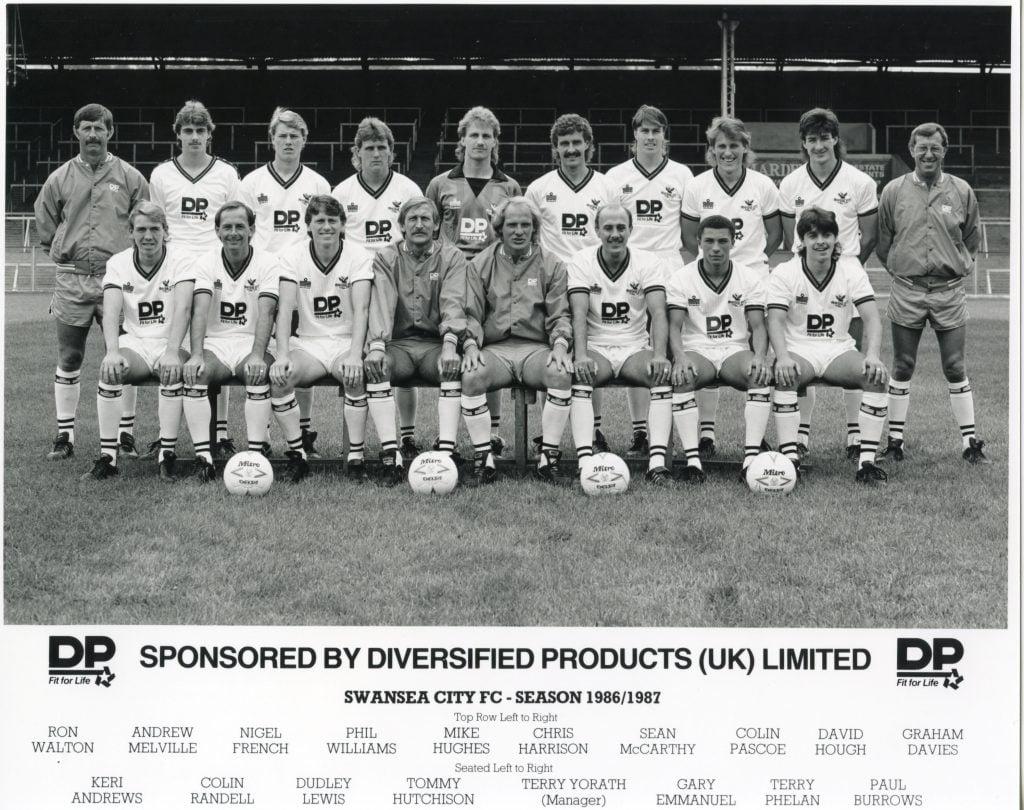 Swansea City Team Photograph 1986-1987 Season