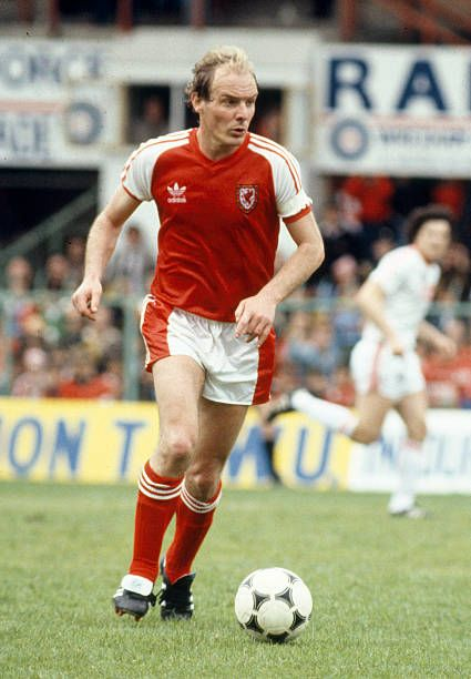 Terry Yorath in action for Wales