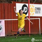 Katy Hosford scores against Briton Ferry Llansawel