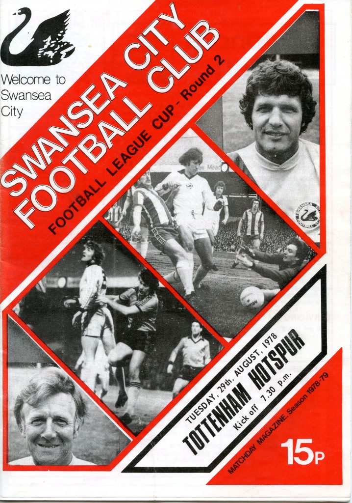 Swans v Spurs programme - League Cup 1978