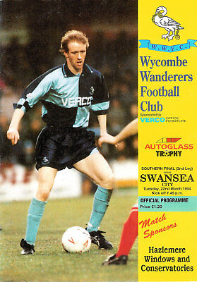 Wycombe v Swansea Programme 1994