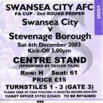 Swans v Stevenage ticket
