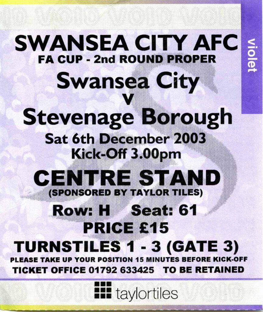 Swans v Stevenage ticket