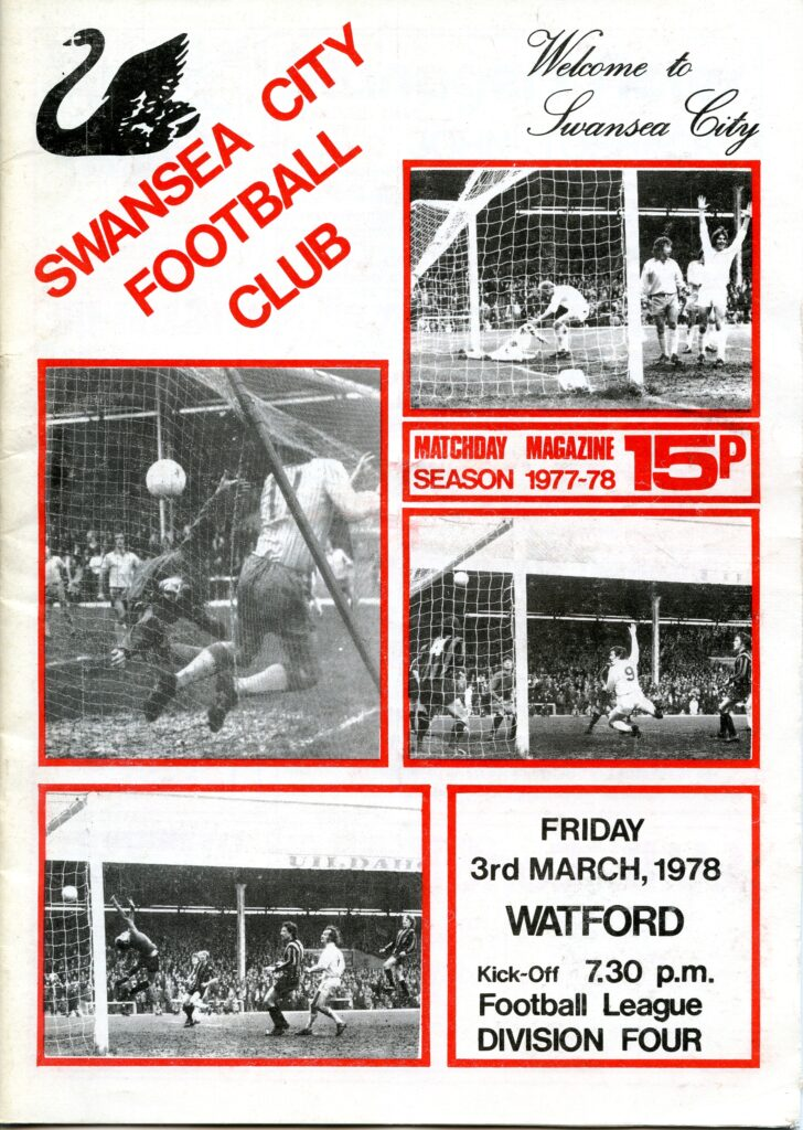 Swans v Watford programme 1978