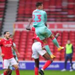 Connor Roberts scores the winner against Nottingham Forest