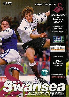 Swansea City v Plymouth Argyle - 24 April 1999