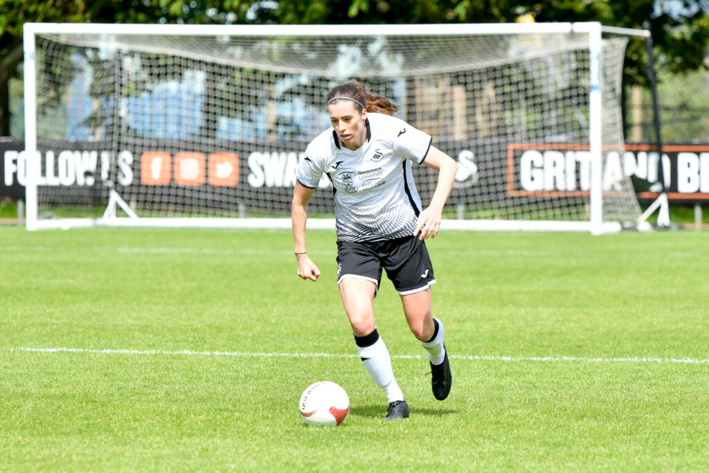 Katy Hosford of Swansea City Ladies in action